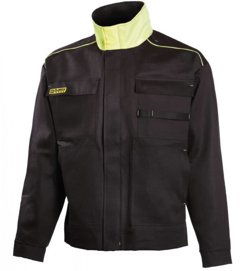 Кофта для сварщиков Dimex 644, чёрная/жёлтая, размер 2XL, DIMEX