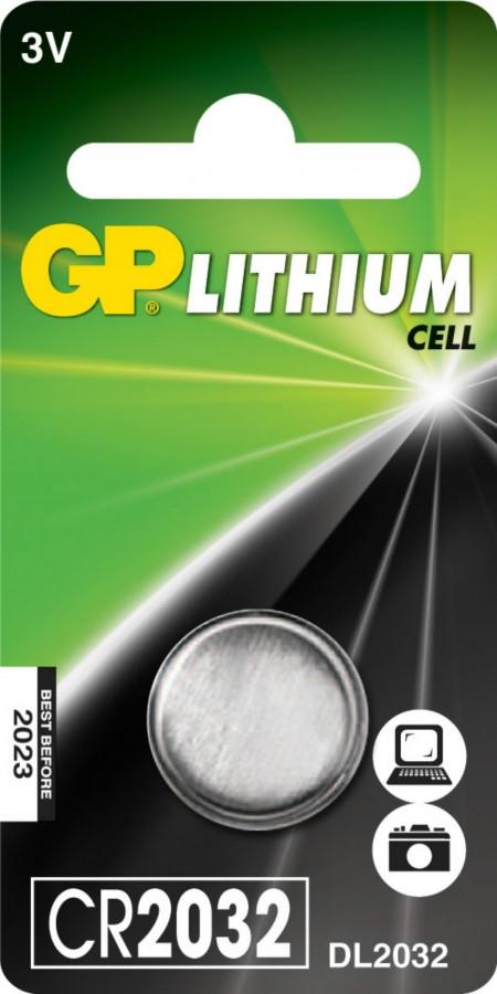 Patarei CR2032, 3V, Liitium, 1 tk., GP