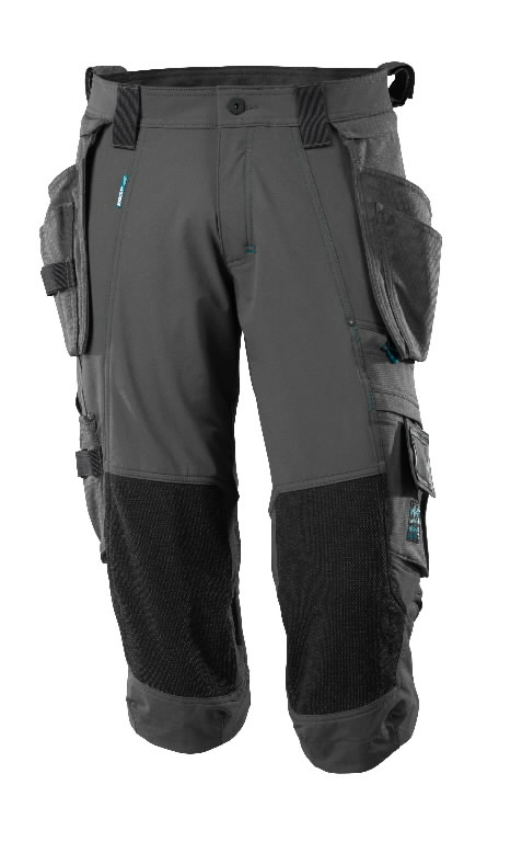 ¾ Length Trousers, holster pockets,Advanced, dark anthracite C58, Mascot
