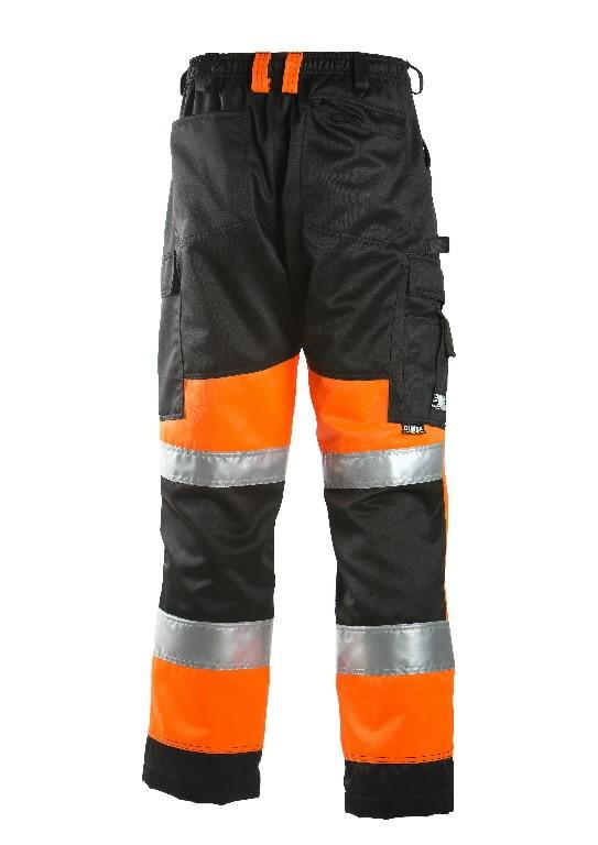 Tööpüksid 6020 kõrgnähtav CL1 oranz/must 58, Dimex