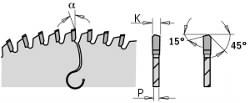 SAW BLADE FOR PLEXIGLASS AND PLASTICS D=300X2.8X30 Z=96 MATB, CMT