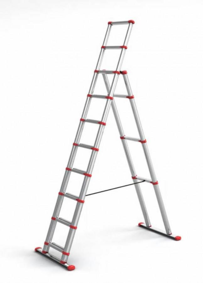 Telescopic ladder RED LINE 3,0m, Telesteps