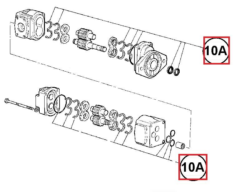 Kit seal, for main hydraulic pump, JCB