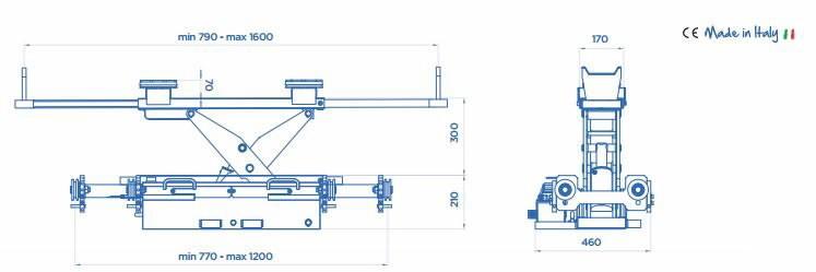Sillatõstuk 2,5T pneumohüdrauliline, OMCN
