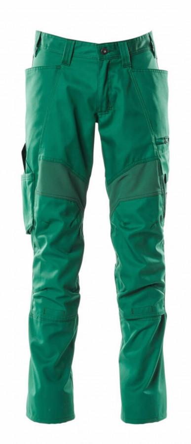 Tööpüksid ACCELERATE strets osad, kaitsmetaskud, roheline 82C56, Mascot