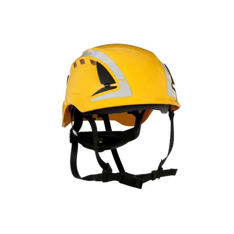 Kaitsekiiver SecureFit, ventileeritud, helkuritega, kollane