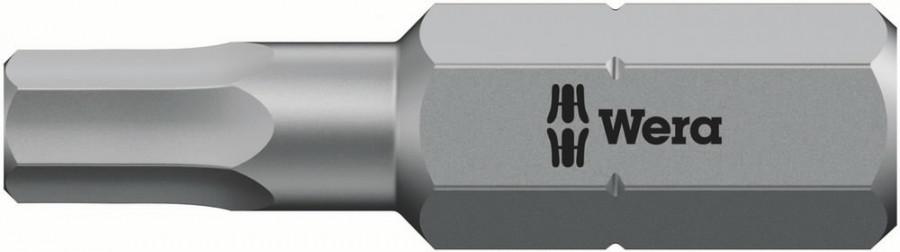 Otsak 1/4´´ 840/1 Z, HEX 2,0x25, Wera