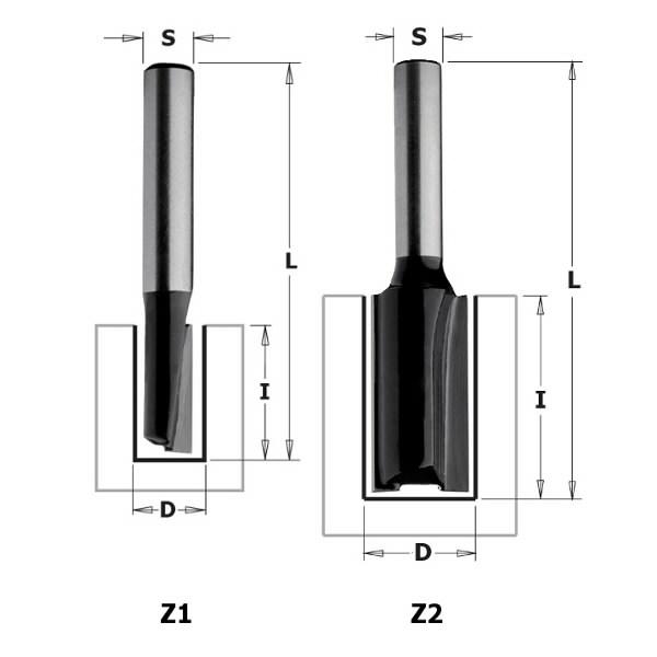 Sõrmfrees S=8mm, D=12mm, CMT
