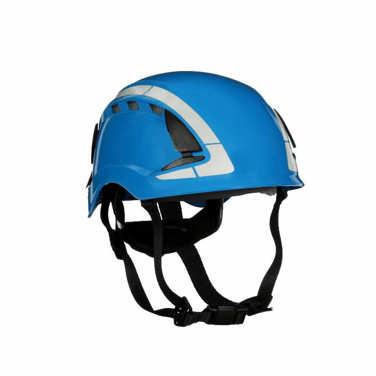 Kaitsekiiver SecureFit, ventileeritud, helkuritega, sinine X