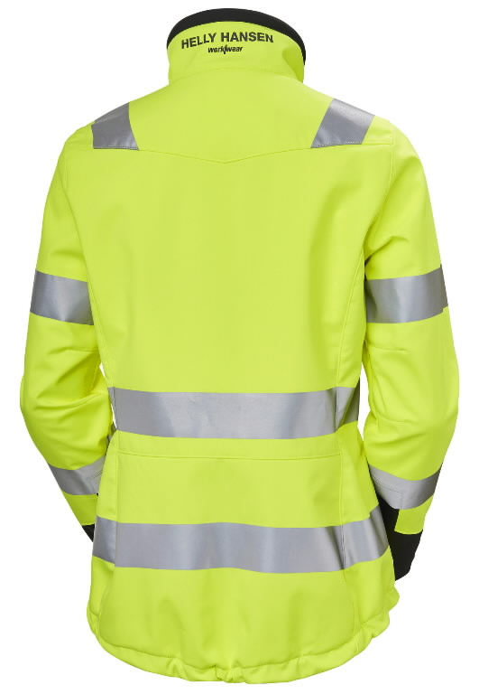 Softshell jakk Luna naiste kõrgnähtav CL2, kollane/must XS, Helly Hansen WorkWear