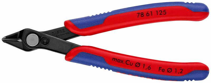 El. külglõiketangid Super Knips 125mm D1,6mm, Knipex