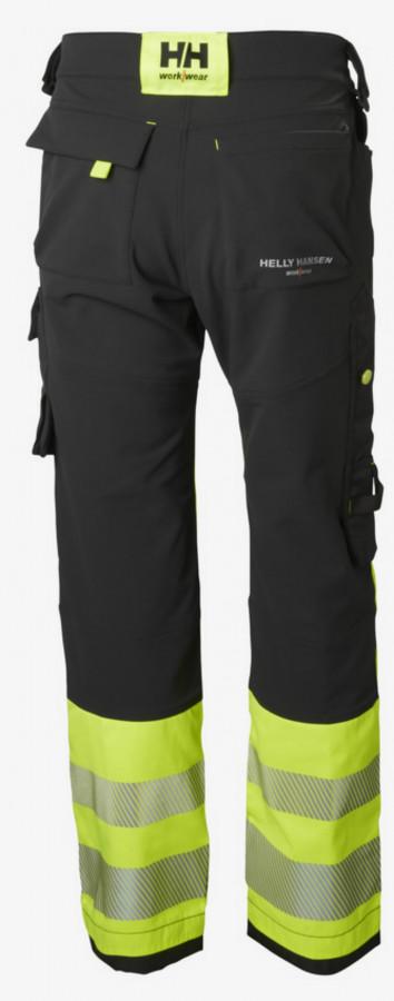 Tööpüksid ripptaskutega Icu kõrgnähtav CL1, kollane/must D112, Helly Hansen WorkWear