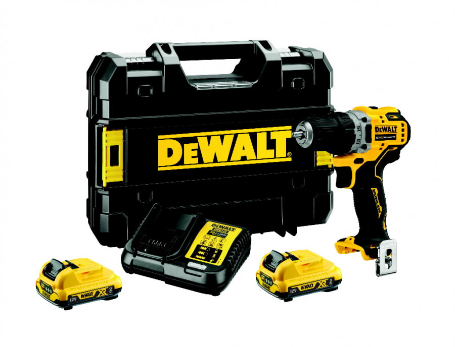 Akutrell DCD701D2, 12V /2 x 2,0Ah, DeWalt