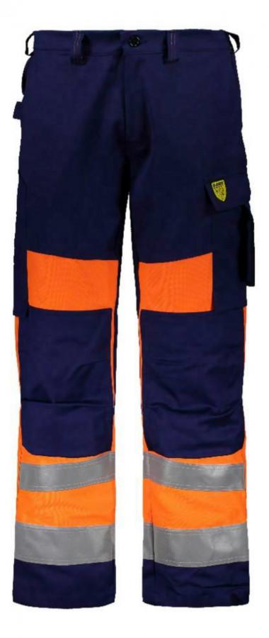 Keevitaja/elektriku püksid Multi 6001 kõrgn CL1, oranz/sini 64, Dimex
