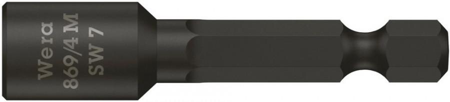 Padrunotsak 1/4´´ 869/4 M, magnetiga, HEX 7,0x50,0, Wera