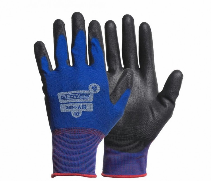 Kindad, Lycra kinnas, PU kattega peopesa, Grips AIR 8, Gloves Pro®