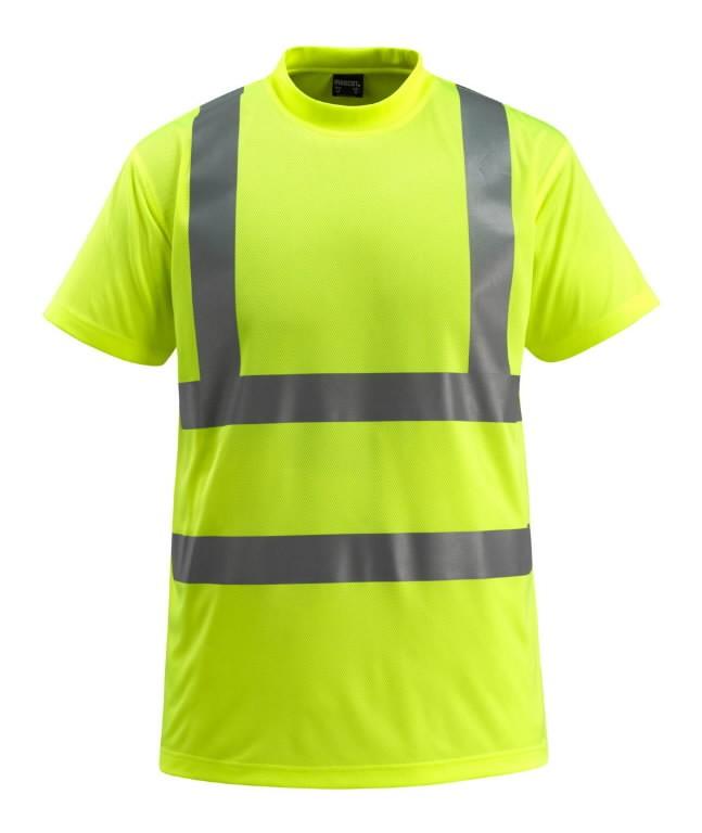 Marškinėliai Townswille, didelio  matomumo, geltona 2XL
