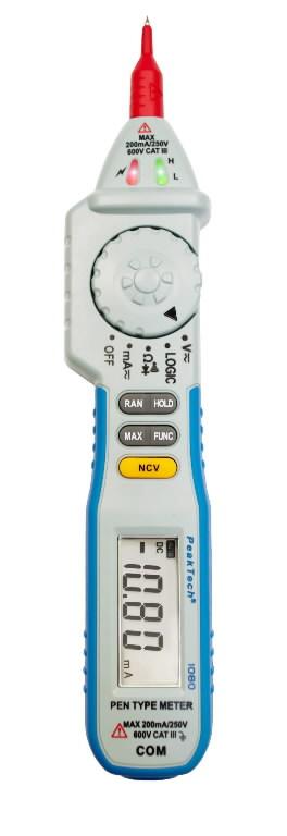 Digitaalne pliiatsi tüüp multimeeter 1080, PeakTech