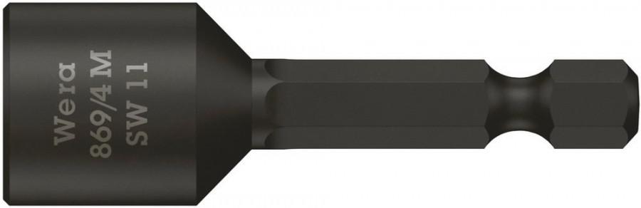 Padrunotsak 1/4´´ 869/4 M, magnetiga, HEX 11,0x50,0, Wera