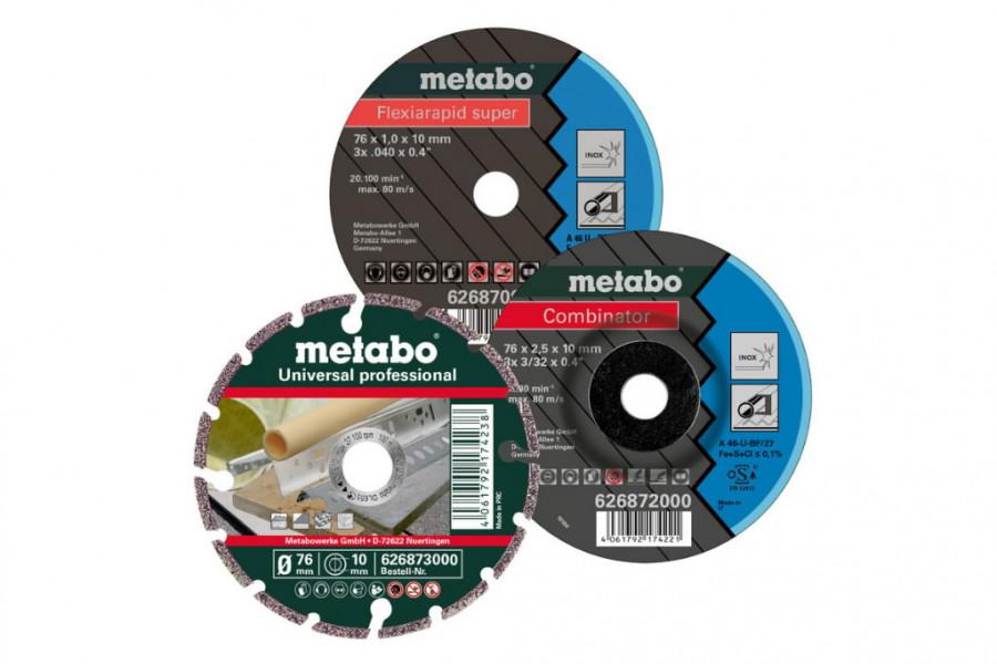 Metallilõike- ja lihvketaste komplekt 76mm 3tk, Metabo