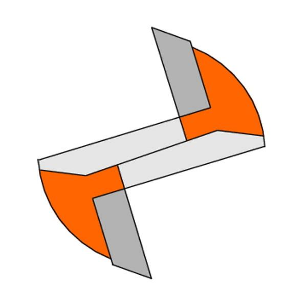 Otsfrees S=8 mm, D=10 mm, CMT