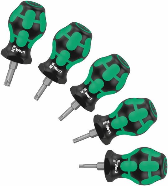 Kruvitsa kmpl Stubby Set TORX, 25mm TX10, 15, 20, 25, 27, Wera