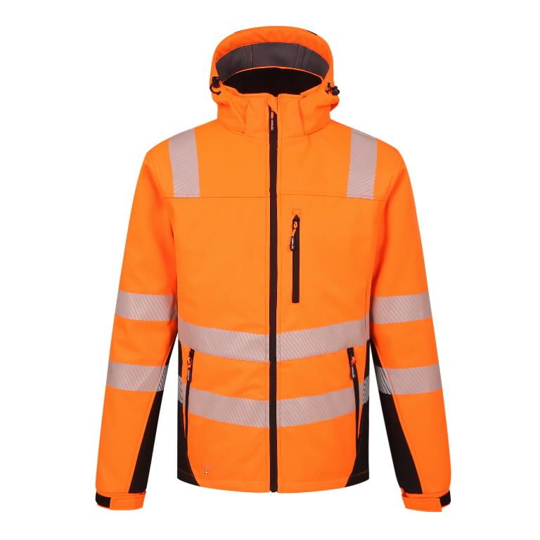 Winter softshell jacket Hi-Vis Calgary, orange S, Pesso