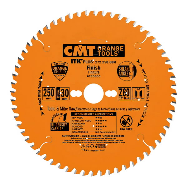 ITK PLUS FINISH SAW BLADE HW 235X2.4X30(+25) Z=48 ATB+SHEAR, CMT