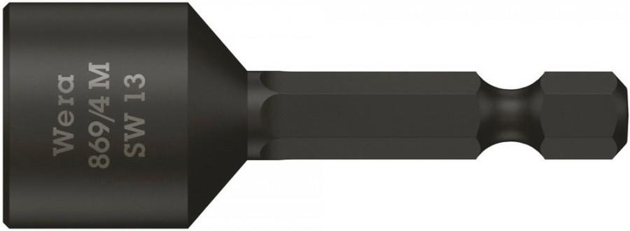 Padrunotsak 1/4´´ 869/4 M, magnetiga, HEX 13,0x50,0, Wera