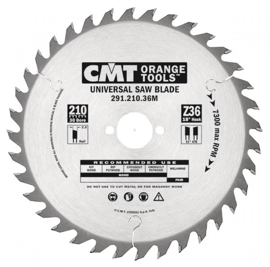 UNIVERSAL SAW BLADE 240X36X2,8 F=30 ATB, CMT
