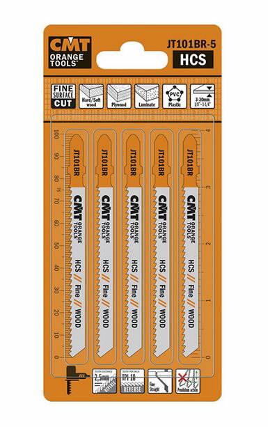 Jig saw blades for wood 75x2.5mm Z10TPI HCS 5pcs/pack, CMT