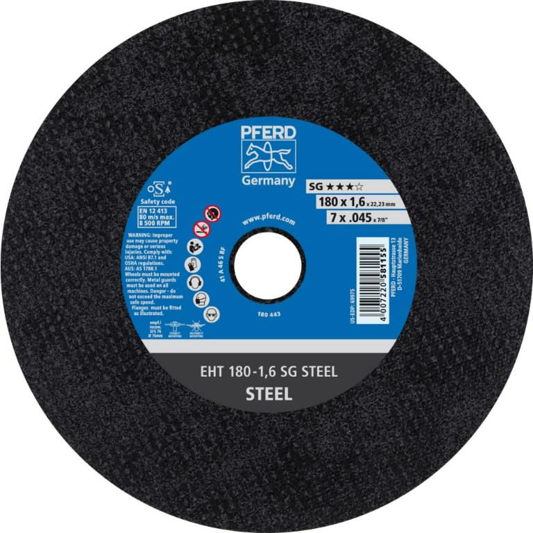 Metallilõikeketas SG STEEL 180x1,6mm, Pferd