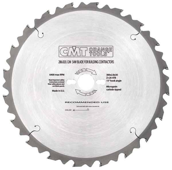 SAW BLADE FOR BUILD.CONTRACT.550X4X30 Z40 5