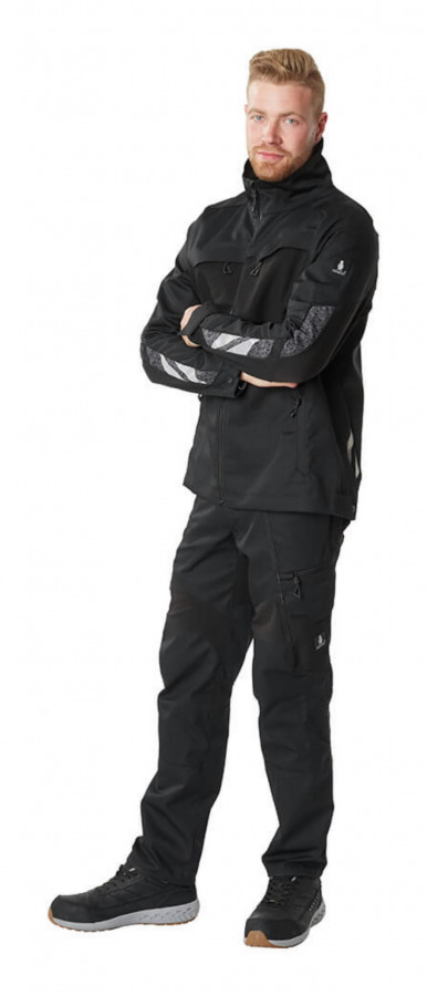 Elastīga darba jaka Accelerate, melna 4XL, Mascot