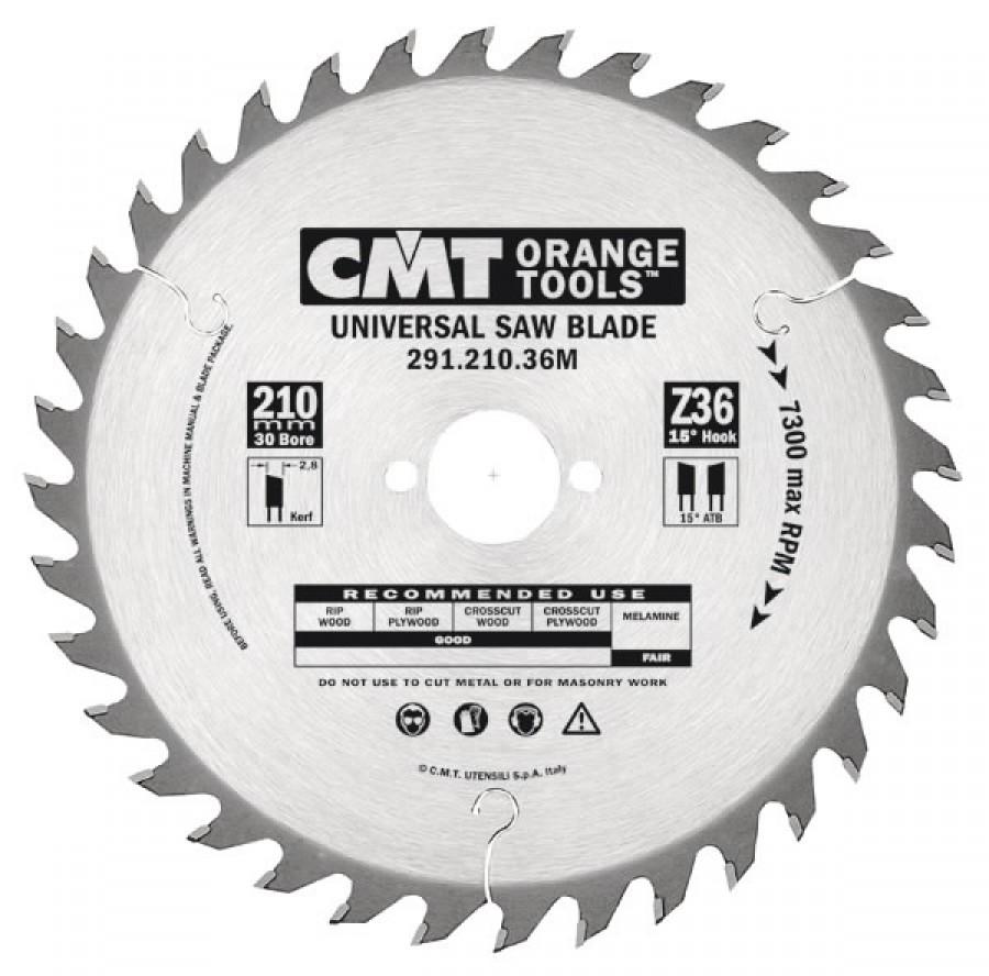 UNIVERSAL SAW BLADE 270X2.8X30 Z42 15ATB, CMT