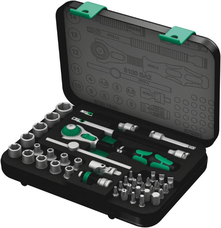8100 SA2 Zyklop ratchet set 1/4