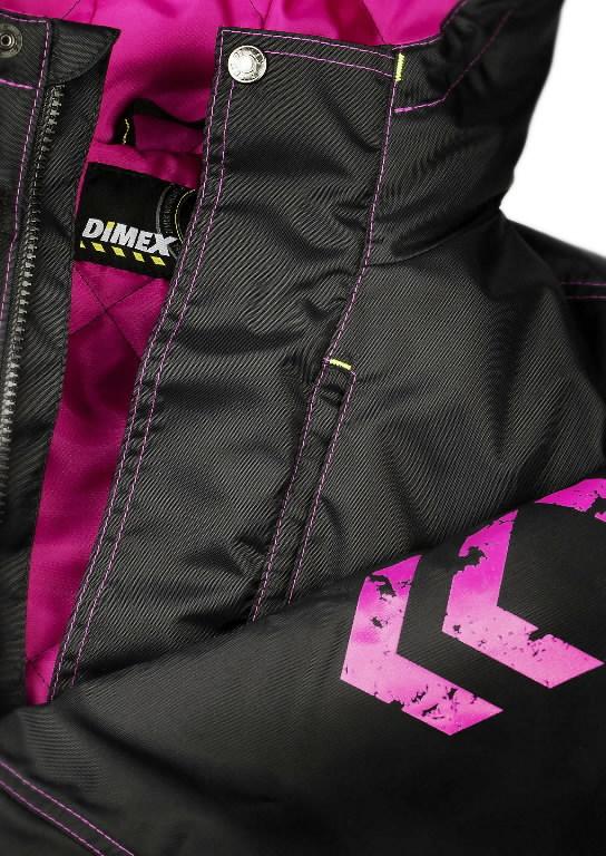 Winter jacket parka 6079 women, black/pink L, Dimex