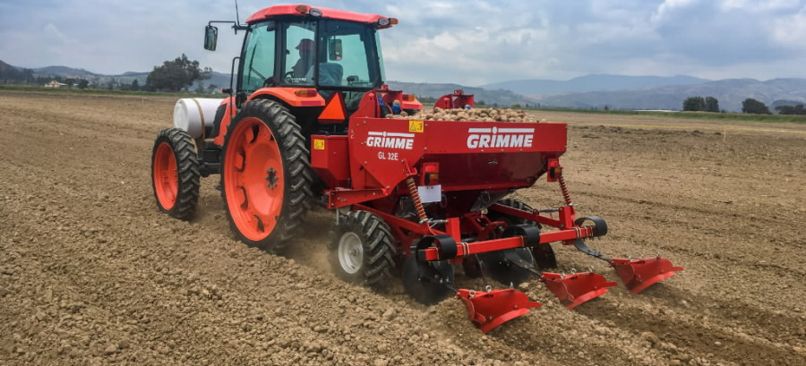 Potato planter  GL 32E, Grimme