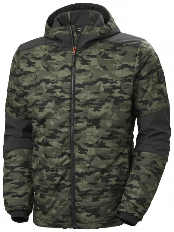 Jacket hooded Kensington Lifaloft, Camo M, Helly Hansen WorkWear