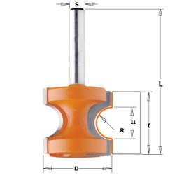 - Pyöristysterä R4,75 x 25,4 mm, CMT