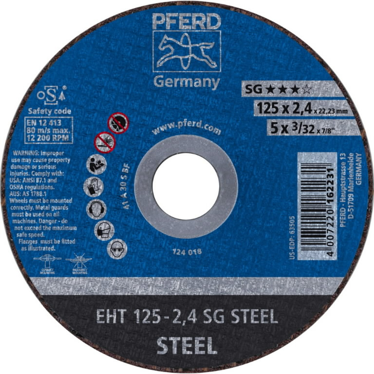 metallilõikeketas 125x2,4x22 A30S SG-E, Pferd