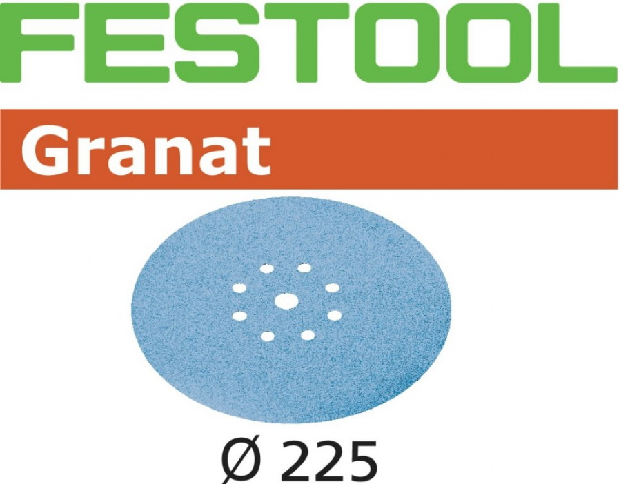 Šlifavimo popierius STF D225/8 P60 GR/25 Granat 25 vnt., Festool