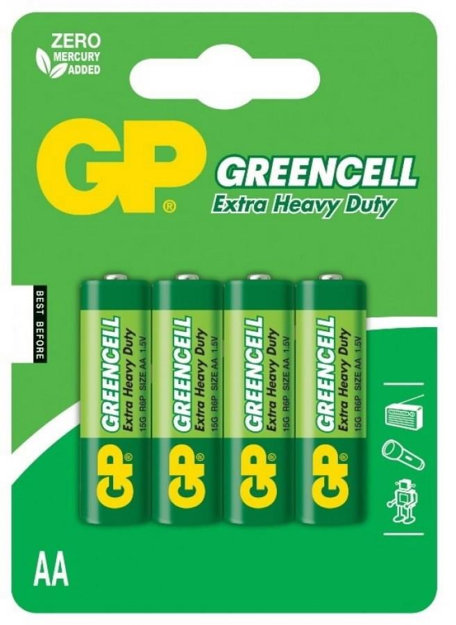 Patarei AA/LR6, 1.5V, Greencell, 4 tk., GP
