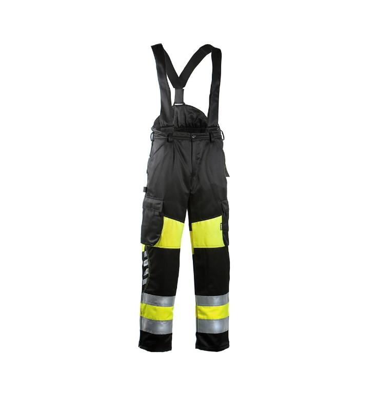 Hi.Vis. winter bib&brace  6360 yellow/black 62, Dimex