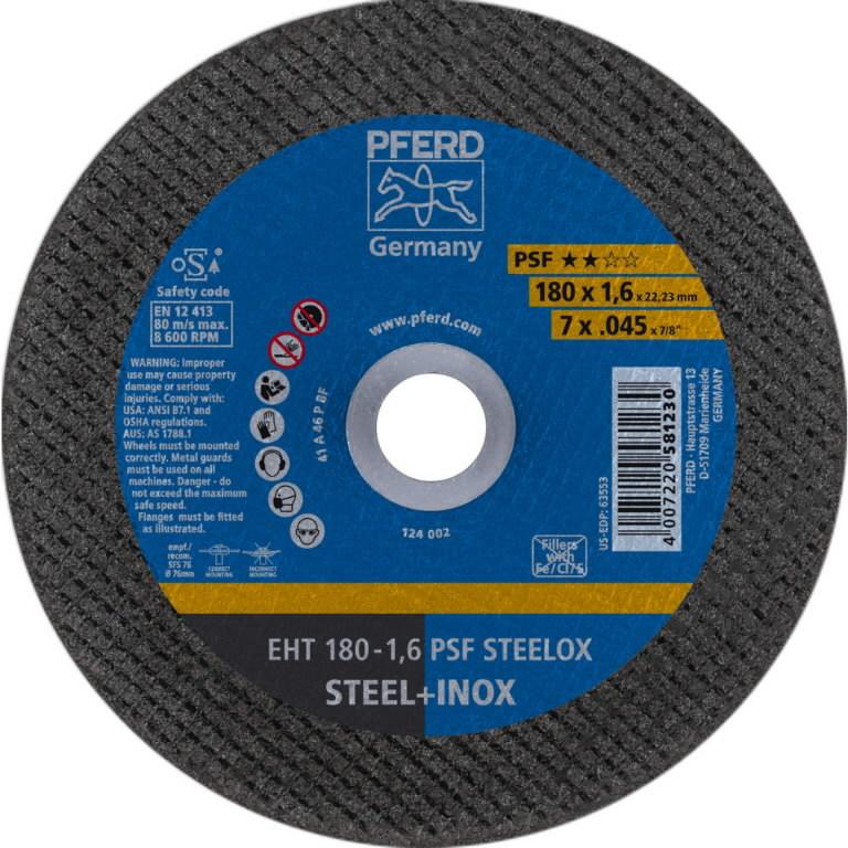 Pjovimo diskas PSF STEELOX 180x1,6mm, Pferd