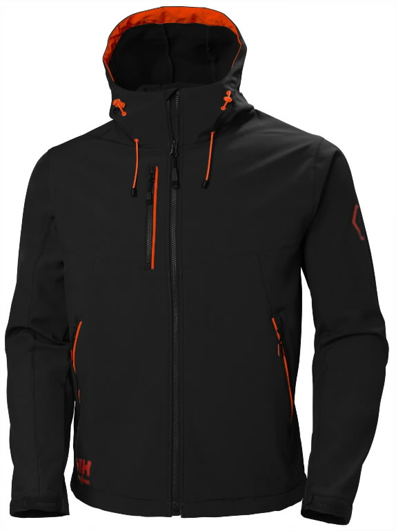 Striukė Chelsea Evolution SOFTSHELL su gobtuvu, juoda XS, Helly Hansen WorkWear
