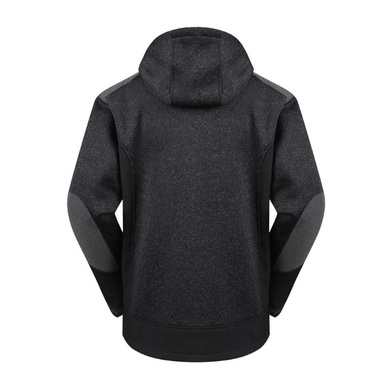Hoodie Oregon hooded, warm lining, black M, Pesso