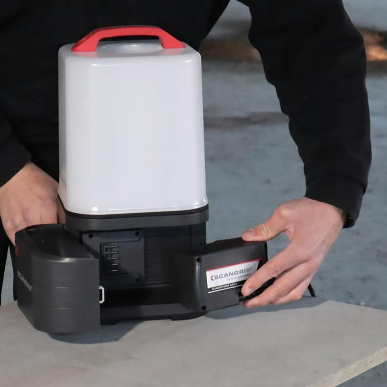 Battery work light AREA10, IP65, BT, 10000lm, carcas CAS, Scangrip