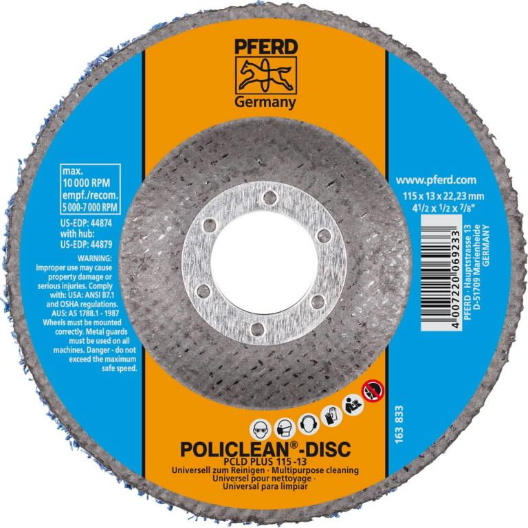 Kärgketas 115mm PCLD PLUS POLICLEAN-DISC, Pferd