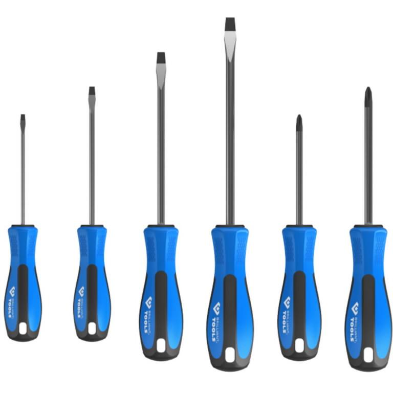 Kruvitsa kmpl 6 osa, SL/PH, Brilliant Tools